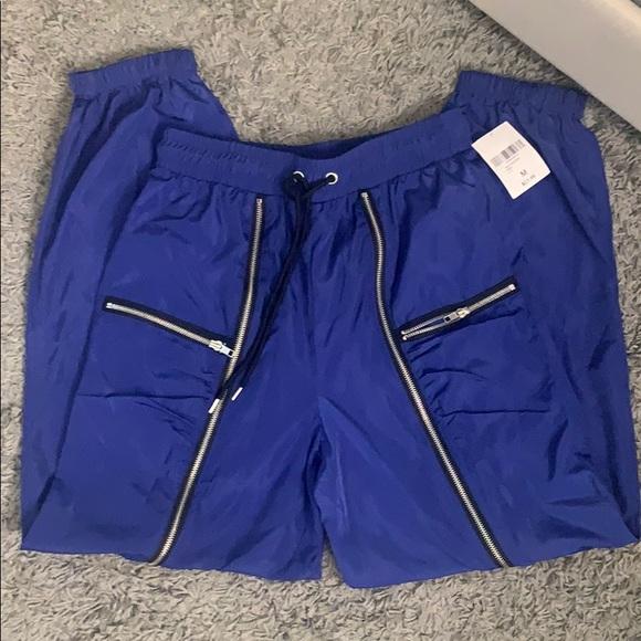 Forever 21 Pants - Royal Blue Satin Joggers